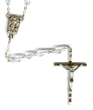Rosary. Glass Beads w/Fatima water